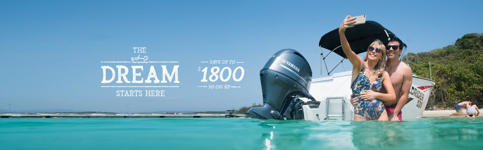 Save up to $1800 on 50-130hp Yamaha outboards